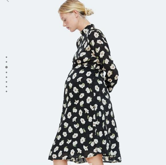 b017b83dcfd9a Zara Maternity Floral Jacquard Dress. M_5c2d43fade6f622a9980b4d1
